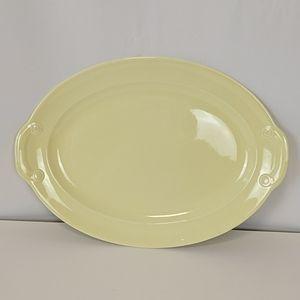 """Vtg Lu-Ray Pastel 12"""" Oval Tray Turkey Platter"""